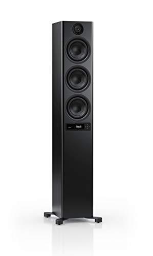 Nubert nuPro X-6000 RC Standlautsprecher | Bluetooth Lautsprecher aptX HD | Lautsprecher Verbindung kabellos High Res 192 kHz/24 bit | Aktivbox mit 3.5 Wege | High End Lautsprecher Schwarz | 1 Stück