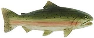 """Trout Fish for Shelf or Mantle (Carved-Wood Look) 11"""""""