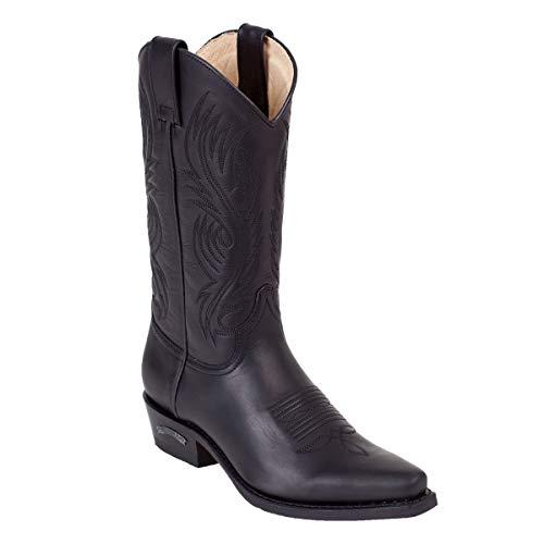 Sendra Cowboystiefel 2605 in schwarz incl. Roy Dunn´s Lederfett (43)