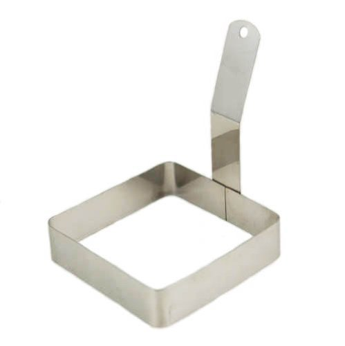Winco Stainless Steel Square Egg Ring, 4 x 4 inch - Set of 12 by Winco