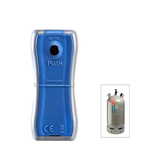 Gaslevel Füllstandsanzeige für Stahl Gasflaschen grau/blau