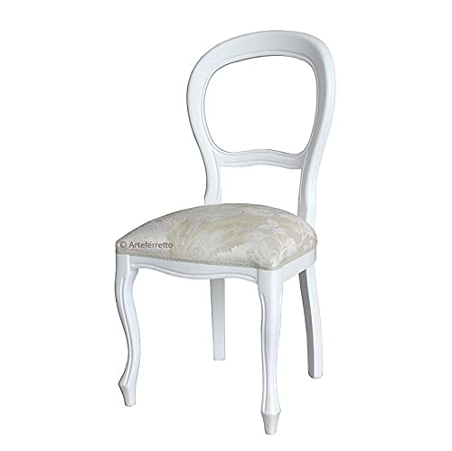 Arteferretto Chaise Blanc laquée Style Louis Philippe