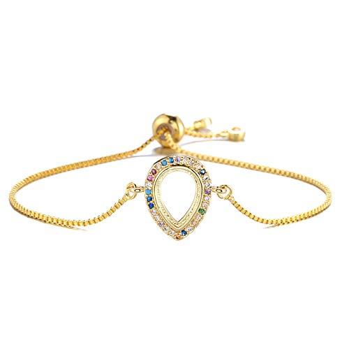 Hand Bangle Bracelets Jewellery For Womens Trendy Hollow Shape Charm Bracelet For Women Girl Luxury Colourful Stone Jewe