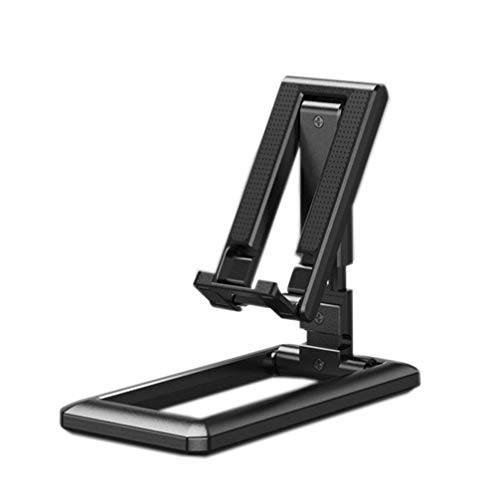 ZKHD Smartphone Holder, Stand, Lazy Bracket, Desktop Cell Phone Stand Holder, Portable Universal Desk Stand for All Mobile Smart Phone Tablet Display,Black