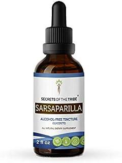Sarsaparilla Tincture Alcohol-Free Extract, Organic Sarsaparilla (Smilax Medica) Dried Root Tincture Supplement (2 FL OZ)