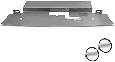 NRG Stainless Steel DVP-3004 Radiator Diversion Panel+Circle Blind Spot Mirror For 95-96 Nissan 240SX S14 (Be+Circle Blind Spot Mirror Fore Facelift S14.1-S14.6)