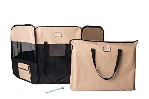 Armarkat Parc portable pour animal domestique Noir/beige, Extra Large, beige