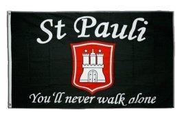 Flaggenfritze® Fanflagge St. Pauli - You'll Never Walk Alone 90x150cm