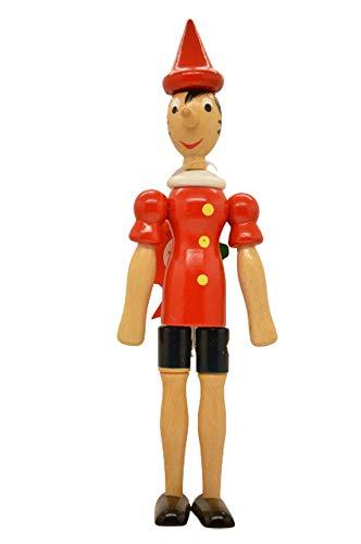 Pinocho de madera artesanal en varias medidas, 100% fabricado en Italia (30 cm)
