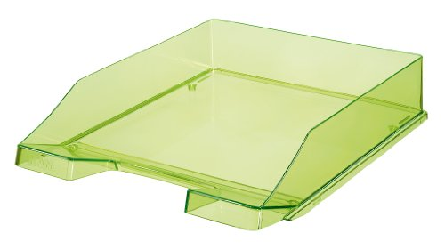 HAN Briefablage KLASSIK, DIN A4/C4, stapelbar, stabil, transparent-grün