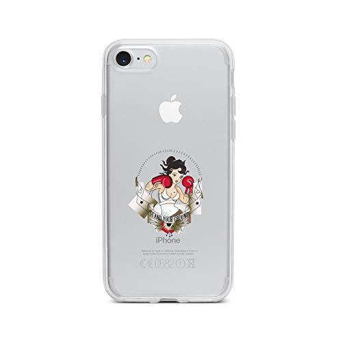 licaso Handyhülle kompatibel für Apple iPhone 8 I Schutzhülle aus TPU mit Stand Your Ground Tattoo Print I Transparente Hülle Handy Aufdruck I Weich Silikon Durchsichtig