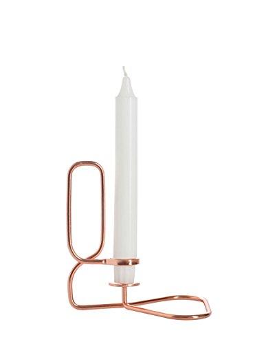 Hay Kerzenhalter Lup Quadratisch, kupfer