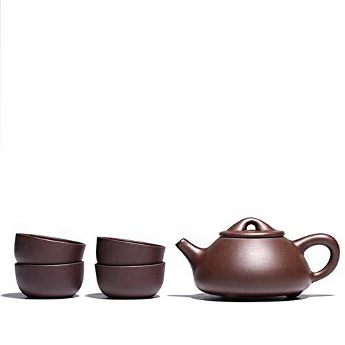Tetera estilo japonés, Horquilla de la tetera de la tetera de la tetera de la tetera de la cucharada de la lechada Color de la olla de arena de Hongni Hongni color de arena: antiguo barro púrpura