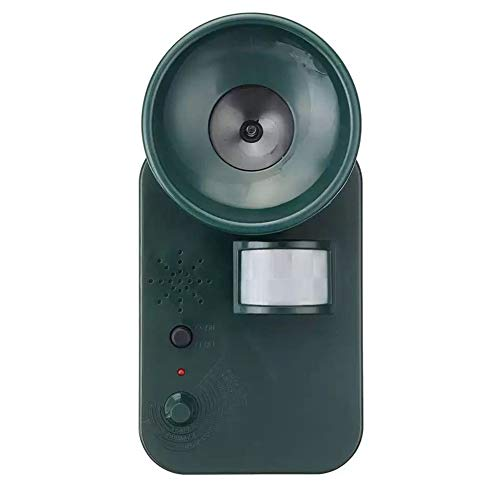 TYI -Garden Solar Powered Ultras Onic Outdoor Animal Repeller Motion PIR Sensor Dog Cat Fox Birds Sonic Deterrent Scarer Repellent, Used in Courtyard, Farm, Lawn,Fox, Raccoon, Etc.