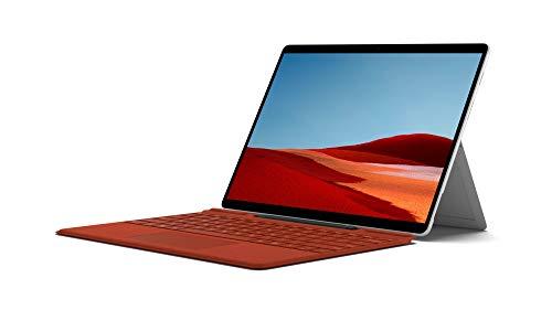 Microsoft Surface Pro X Ordinateur Portable (Windows 10, Ecran Tactile 13, Processeur Microsoft SQ2, 16 Go RAM, 512 Go SSD, 4G+LTE, Platine) PC Hybride, Ultrafin et toujours Connecté