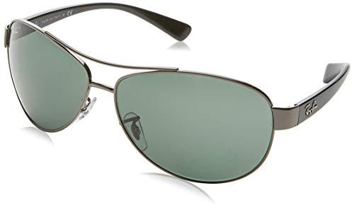 Ray Ban RB3386, Gafas de Sol Unisex, Gris (gris, verde 004/71), Large (Talla del fabricante: 63)