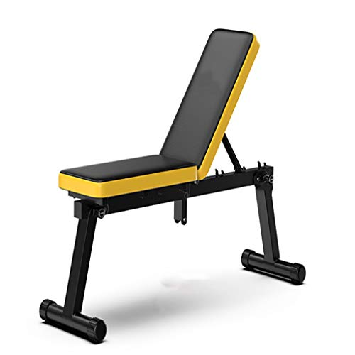 GLKTE HYS Silla multifunción Plana Banco de heces Plegable Home Fitness Hombres y Mujeres Muscular del Equipo de la Aptitud