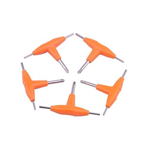 5pcs T-shape Screwdriver Cross Screw Driver Inner Hexagon Spanner for RDA RBA RTA DIY Tool