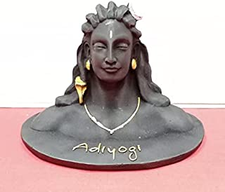 Plastic Adiyogi Statue, Standard, Black, 1 Piece