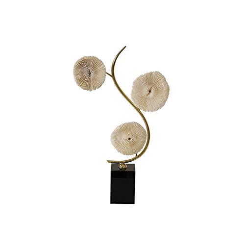 Crafts Escultura Coral Escultura Decoración Nórdica Sala de estar Decoración del Hogar Moderna Luz Minimalista Lujo Mueble de TV Arte Decoración Suave Decoración (Tamaño: Medio)