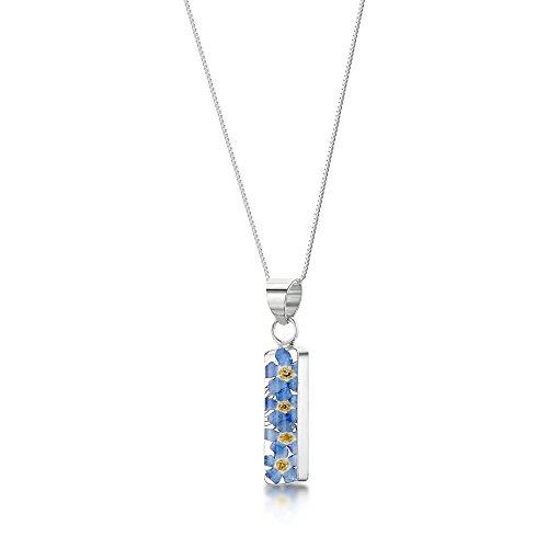 Shrieking Violet, gioiello con ciondolo, color blu, non ti scordar di me, in argento Sterling 925, collana da 45cm e argento, colore: blau, cod. FP05
