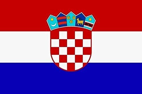 U24 Aufkleber Kroatien Flagge Fahne 8 x 5 cm Autoaufkleber Sticker