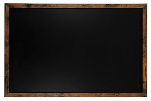 Rustic Framed Premium Surface Magnetic Large Chalk Board- 24'x36' by Loddie Doddie. Perfect board for use with Chalk Markers and Home Decor