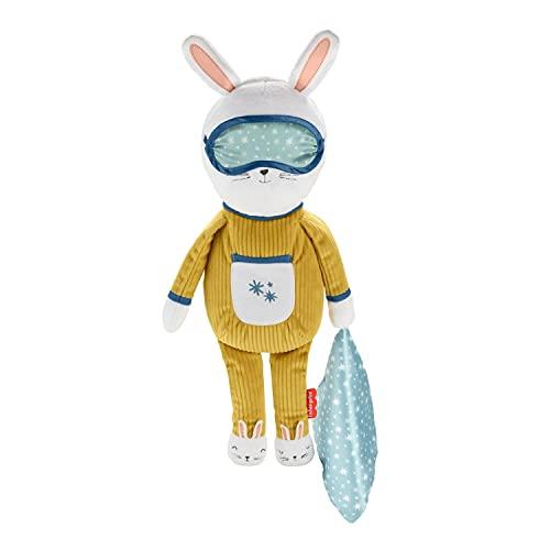 Fisher-Price GMN58 - Traumhäschen Schlafbegleiter, Plüschspielzeug mit Musik, Schlaftraining, Lichtern und Geräuschen, für Kleinkinder ab 18 Monaten