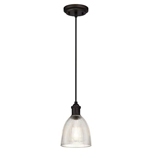 Westinghouse Lighting One-Light Indoor Pendant Lámpara de Techo, Bronce Aceitado, 154 cm