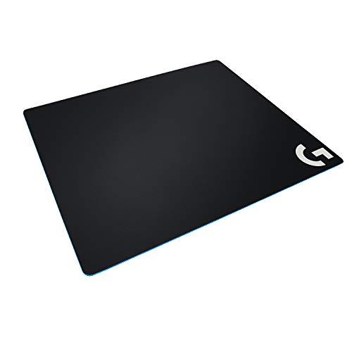 Logitech G640 Gaming-Mauspad aus Stoff, 460x400 mm, 3mm flaches Profil, Geringe Oberflächenreibung, Gleichmäßige Oberflächenstruktur, Gummiunterlage, Zusammenrollbar - Schwarz