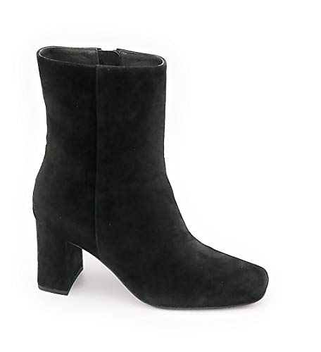 Bibilou 513t30 Wildleder-Stiefelette schwarz Reißverschluss Keilabsatz 7 cm 0-1 - Schuhgröße 37 EU Farbe schwarz