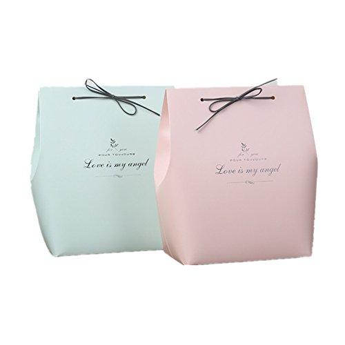 Wilany 10 Stück Rose große Geschenkbox zum Hochzeitstag DIY-Geschenkbox Haus und Geschäft Geschenkverpackung Kuchen Süßigkeiten und Schmuck