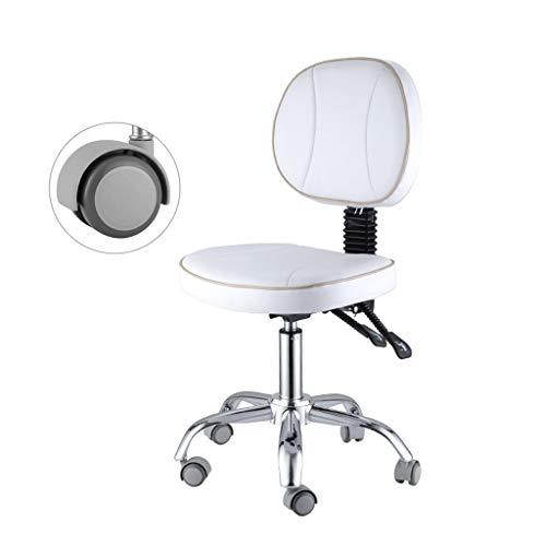 NUBAO Computerstuhl, Arbeitsstuhl, Gegenstuhl, Arbeitshocker, Drehen Heben Korrektive Sitzhaltung Labor Bürostuhl 48-60 cm Weiß (Farbe : Weiß)