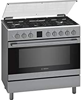 Bosch 90X60 cm 5 Gas Burners Gas Cooker, Stainless Steel - HGK90VQ50M, 1 Year Warranty