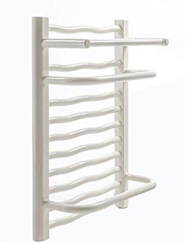 NJOLG Radiadores de baño Toalla montada en la Pared, Calentador de Toalla de Acero de bajo Contenido de Carbono de Pared de Pared de Pared, Secadora de Ropa de Toalla de baño, Blanco, cableado