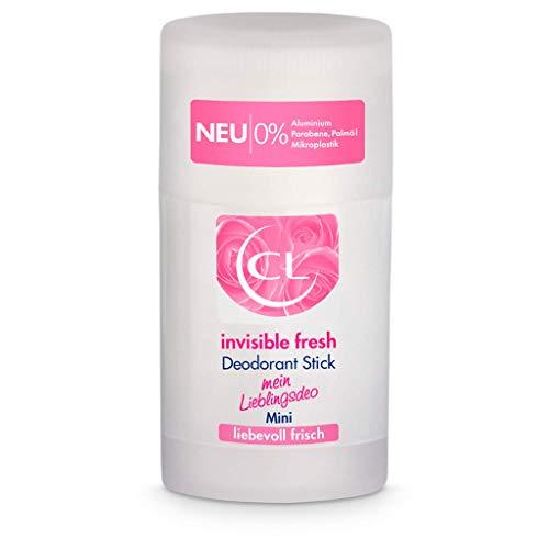 CL invisible fresh Deodorant Stick mit langanhaltenden Duft - 25 ml Deo Stick ohne Aluminium, Zink & Mikroplastik mit frischem Blütenduft - veganes Deo Damen ohne weiße Flecken - Deodorant Frauen