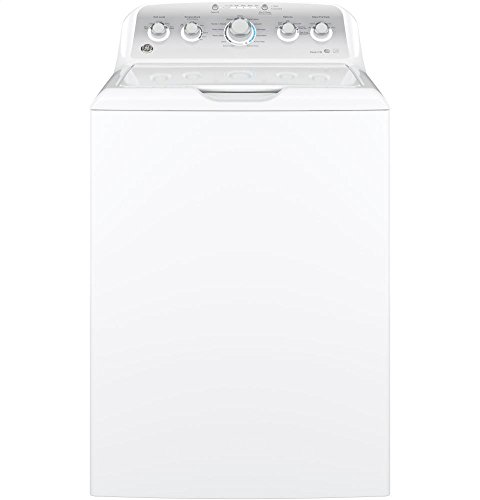 GE GTW485ASJWS Top Loading Washer with Stainless Steel Basket, 4.2 Cu. Ft. Capacity, 13 Cycles, White,