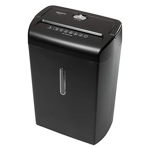 Genie 1200 X Hochsicherheits Aktenvernichter, bis zu 12 Blatt, Partikelschnitt - Shredder (Sicherheitsstufe P-3), inkl. Papierkorb - für Datenschutz nach neuer Verordnung (DSGVO 2018), schwarz