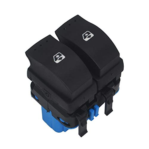 KASturbo Interruptor doble 8200107772 de control de ventanilla eléctrica para coche para R-enault Megane 2 Scenic 2