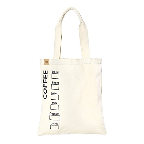 Me Plus Eco Cotton Canvas Stylish Printed Fashion Shopping and Travel Tote Bag (COFFEE)
