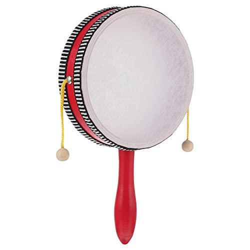 NUOBESTY Tambor de Sonajero Tradicional de Juguete de Percusión Batería de Percusión Instrumento Musical Tradicional Chino de Juguete para Bebé