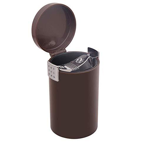 unknow Kunststoffbecherhalter Aschenbecher mit Deckel, Auto Kleine Mülltonne Zigarettenasche Halter Sicheres Flammschutzmittel gegen Wind abgedichtet Leicht zu reinigen Geeignet für die meisten AUT