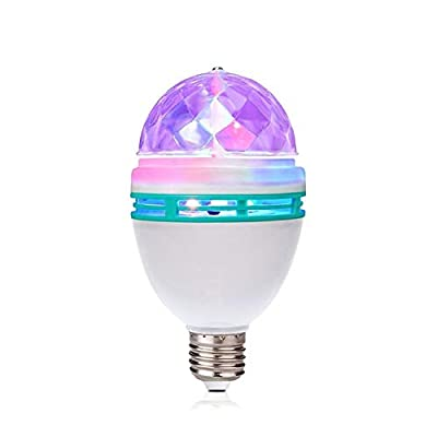 TrendBox E27 3W LED Full Color Rotating Auto Crystal Ball Bulb AC 85-260V Mini Party Light Lamp Energy Saving Disco DJ