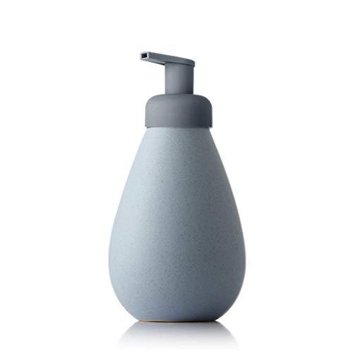 PIAOLING 700ml Savon en céramique Dispensers moussants Mousse Lotion Dispensers Pressé sur Shampooing Gel Douche Savon Dispensers (Color : Blue, Taille : 700ml)