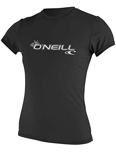 O'Neill Wetsuits Camisa de Manga Corta para Mujer Basic Skins, Mujer, Chaleco Protector, 3547-002-S, Negro, S