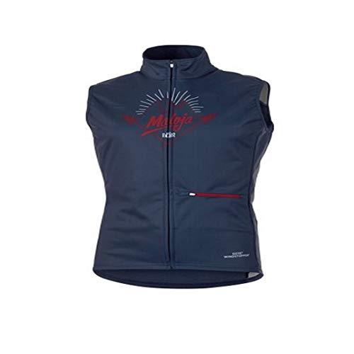 Maloja Fonction Multi Veste de Sport burtm. WS Gilet pour Femme Bleu Windstopper (M)