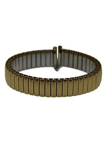 Rowi FixoflexS Zugband 12mm Uhrenarmband Vergoldet Flex Armband Uhr Band 385166