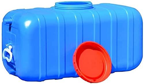 Agua Didon Rectángulo Tanque De Agua Azul 70L / 100L Espesado Espesano Reserva De Agua De Barril Química Industrial Sin Recipientes De Reserva Sin BPA con Grifo De Plástico,100l