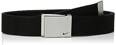 Nike Boys' Big Single Web Belt, black, One Size