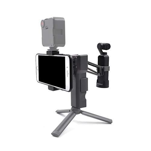 DingLong Für DJI Osmo Pocket Handheld Gimbal Zubehör Z Achse Handheld Stabilizer Clip Premium Set (1 Stoßdämpfer 1Schlüsselband 1 Samtbeutel 1 Handy-Clip 1 Handy-Clip-Zubehör)